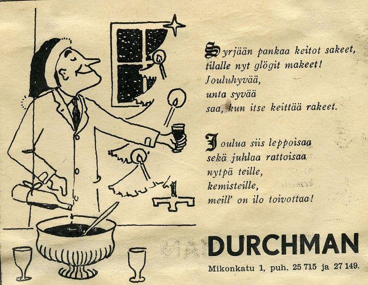 Durcmann #joululaulut #joulu #mainokset #vanhatmainokset