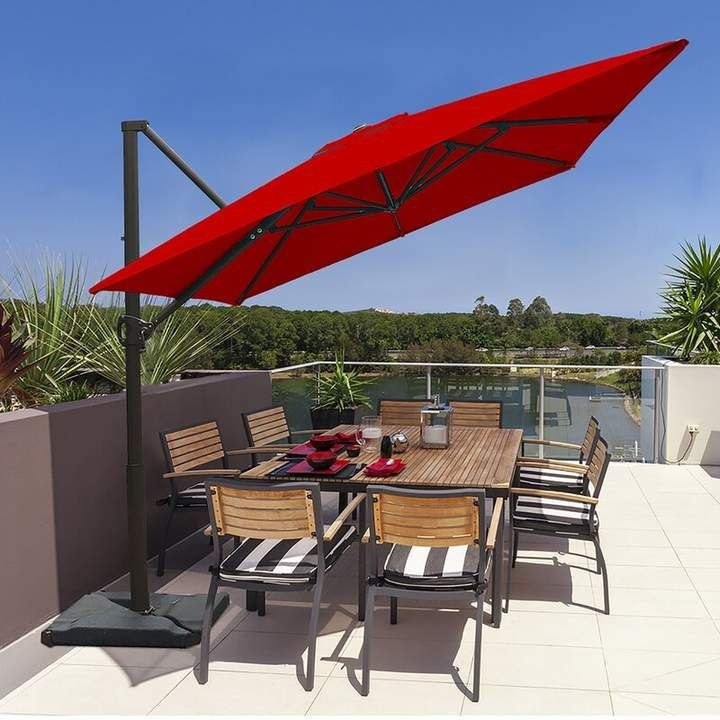 Fordwich 8 X 10 Rectangular Cantilever Umbrella Best Patio Umbrella Cantilever Patio Umbrella Large Patio Umbrellas
