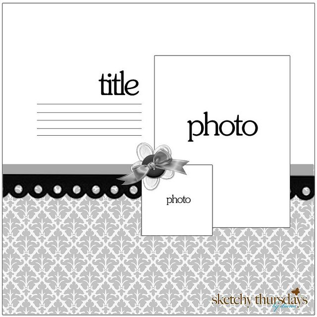 2 picture scrapbook layout