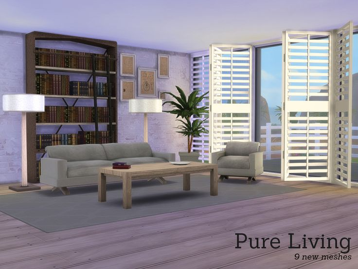 Pure Living, A New Set With A Modern Feel For Your Sims Homes. Found In TSR  Category U0027Sims 4 Living Room Setsu0027