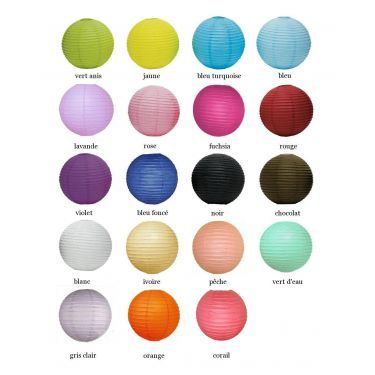 Le lampion boule en papier -19 coloris jaune à 1,40  € chez http://www.decorationsdemariage.fr/decoration-de-plafond/623-le-lampion-boule-en-papier-19-coloris.html#