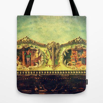 Auf dem Jahrmarkt (1) Tote Bag by Angela Bruno - $22.00 #bag, #totebag, #tasche, #borsa
