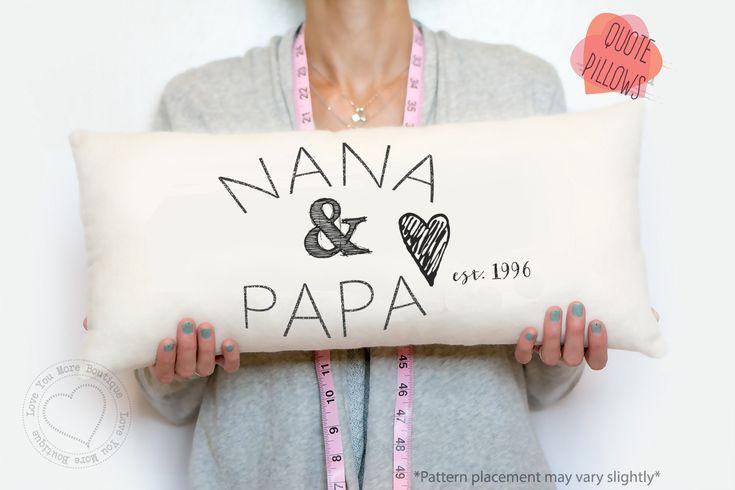 grandma and grandpa, grandparent gift, grandparent pillow, gifts for grandparents, grandparent gifts, grandma gift, grandpa gift, christmas by LoveYouMoreBoutique on Etsy
