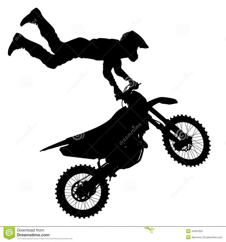 black-silhouettes-motocross-rider-motorcycle-vector ...