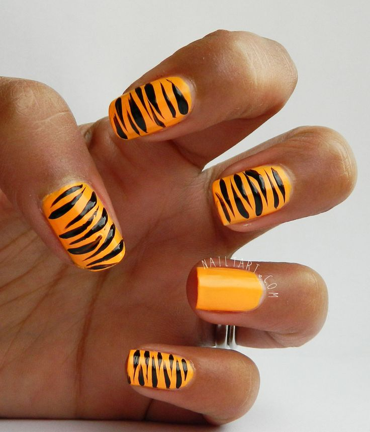 Best 25 tiger nail art ideas on pinterest tiger stripe nails 31 day challenge models own beach party tiger print nail art by nailtart prinsesfo Image collections