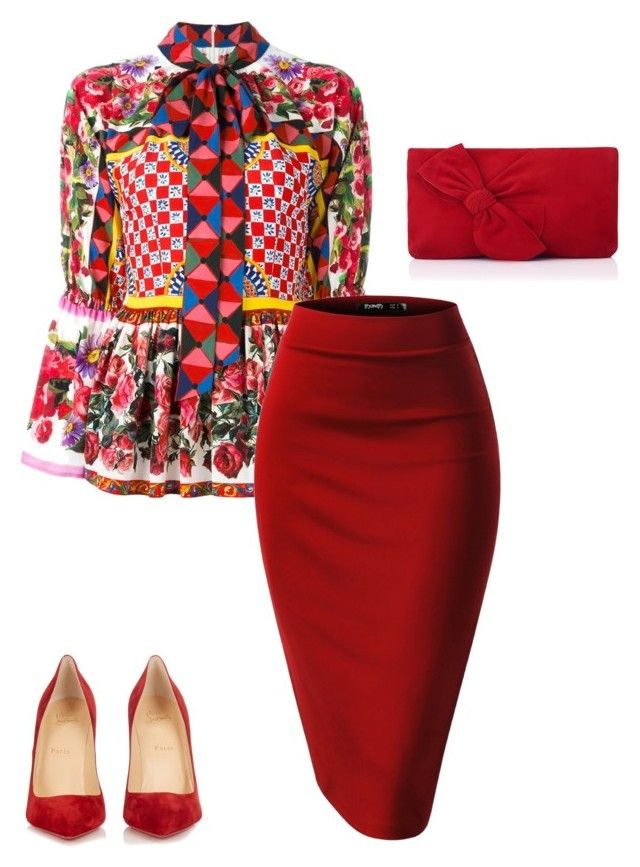 """""""Tznious #14"""" by rlicht on Polyvore featuring Dolce&Gabbana, Christian Louboutin and L.K.Bennett"""