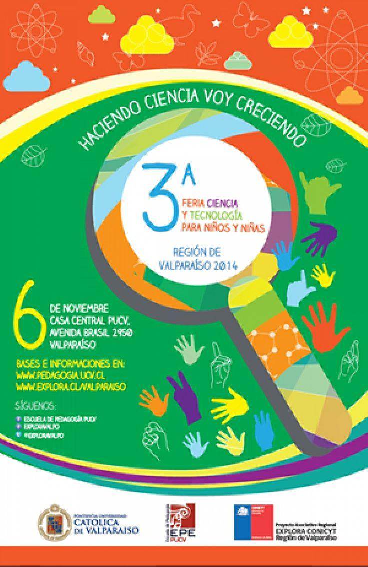 Mini científicos de la región pueden participar de la 3° Feria de Ciencia y Tecnología de Niños y Niñas Valparaíso http://www.explora.cl/valparaiso/noticias-valparaiso/1678-mini-cientificos-de-la-region-pueden-participar-de-la-3-feria-de-ciencia-y-tecnologia-de-ninos-y-ninas-valparaiso