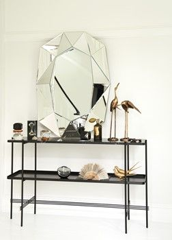 Diamond mirror Silver