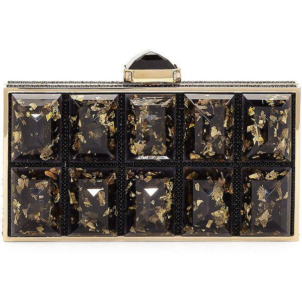 Judith Leiber Couture Perfect Rectangle Clutch Bag (21675 MAD) ❤ liked on Polyvore featuring bags, handbags, clutches, champagne, clasp handbag, clasp purse, judith leiber handbags, judith leiber purses and judith leiber clutches