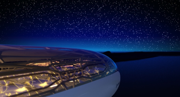Vision of an Airbus airplane in the year 2050