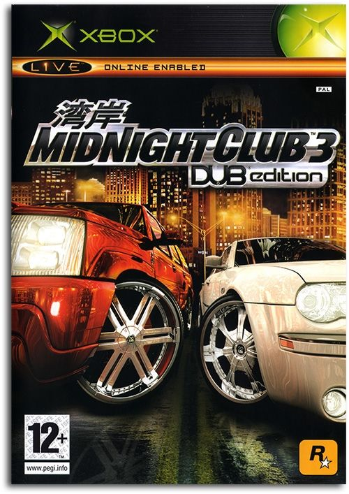 Midnight Club 3: Dub Edition Poster Xbox Game Cover