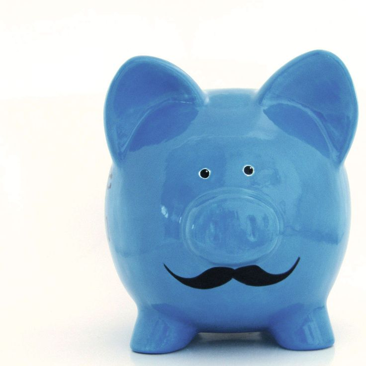 Mustache Piggy Bank Personalized Piggy Bank with by ThePigPen