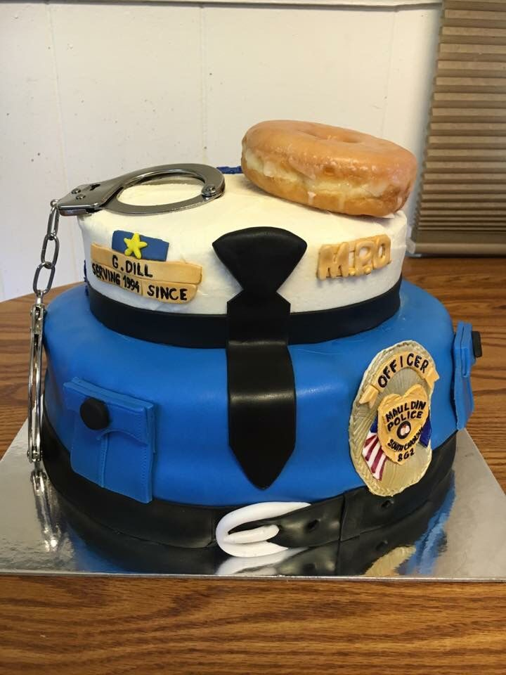 Police appreciation/birthday cake.