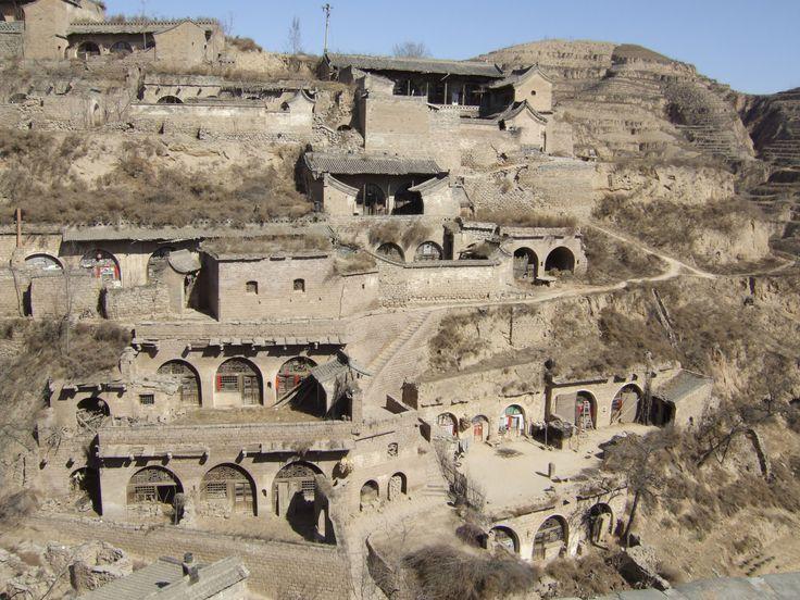 Cave dwellings  in Lijiashan, China