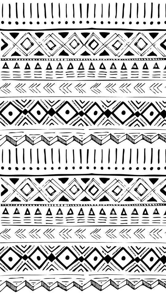White-back aztec patterns