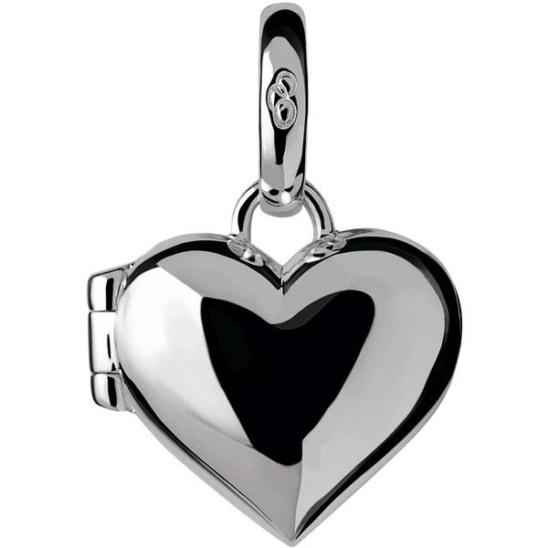 Links of London Sterling Silver Heart Locket Charm ($66) ❤ liked on Polyvore featuring jewelry, pendants, sterling silver heart charm, engraved locket, sterling silver heart locket, engraved heart locket and heart locket charms