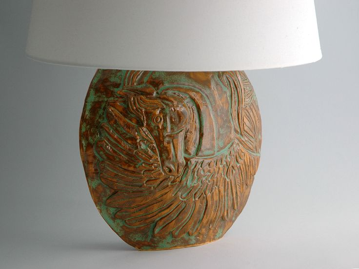pegasus ceramic lamp https://www.etsy.com/listing/458168950/hand-shaped-ceramic-table-lamp-base-with