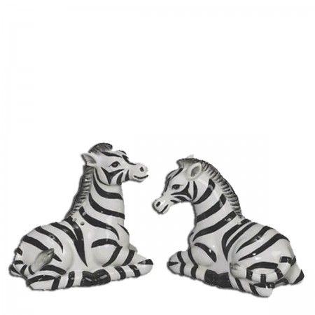 Zebra Salt and Pepper Shakers - Furbish Studio