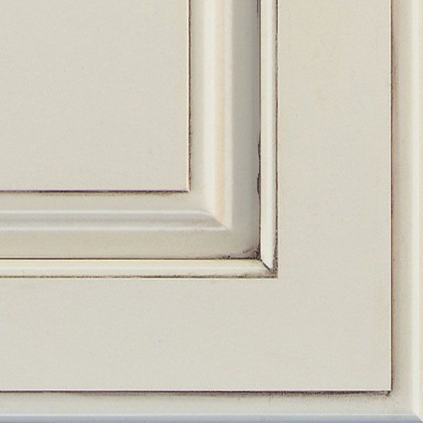 Chantille espresso glazed cabinet finish on maple is a - Off white cabinets with chocolate glaze ...