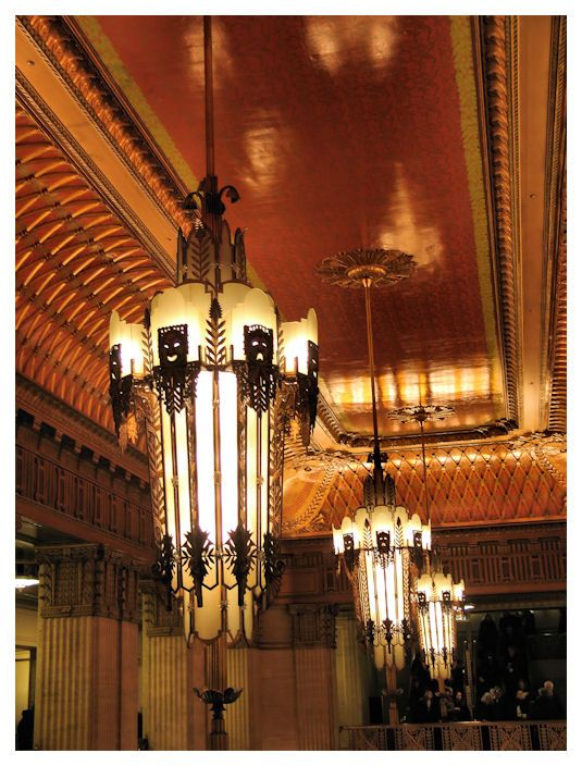 Art Deco Chandeliers St The Lyric Opera Of Chicago