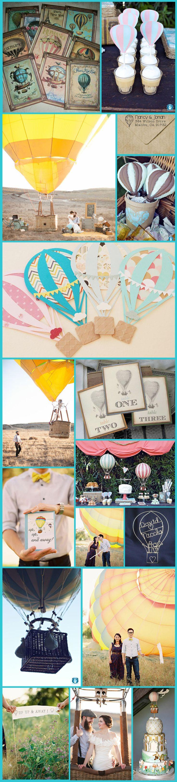 Hot Air Balloon Themed Wedding. This is actually an adorable idea.