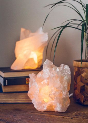 Love is all you need! These beautiful candleholders are formed out of rough rose quartz! When lit, this stone of love radiates a stunning pink glow and of course, good vibes! - One candleholder - Incl