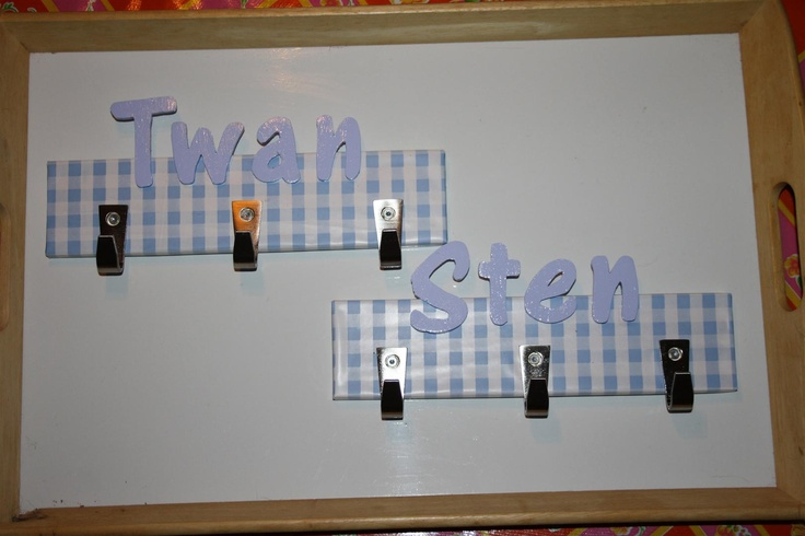 Hangers I made for my nephews.