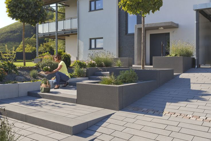 1000 id er om blockstufen p pinterest betonstufen moderne haust ren och stufen. Black Bedroom Furniture Sets. Home Design Ideas