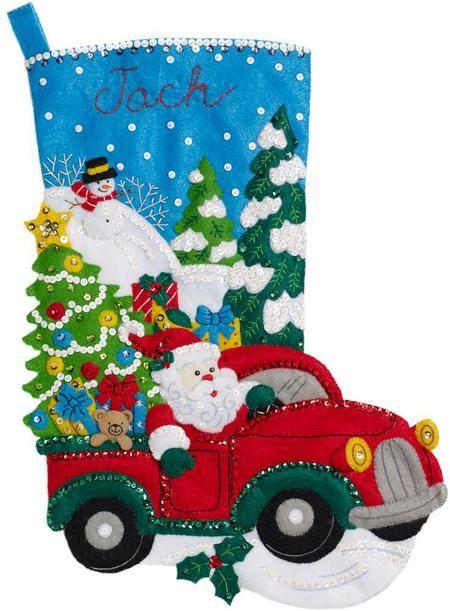 The Christmas Drive Christmas Stick INGAsí y el dice ke no - Felt Applique Kit