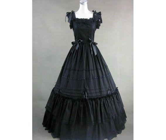 Morgan`S Vintage Vampire Goth Gown Unique Gothic Retro Wedding Bridal Dance Prom Dress