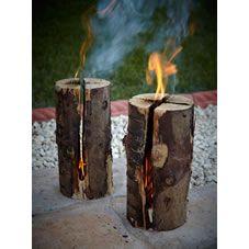 Bar-Be-Quick Heat Log Flaming Natural Wood