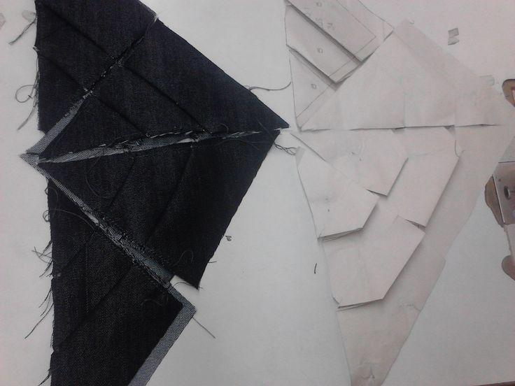 moldes de #pantalon jean con origami en costados..!  #modazeus