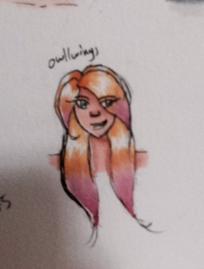 OC for @Animedragon345  (Sorry it's awful and blurry)