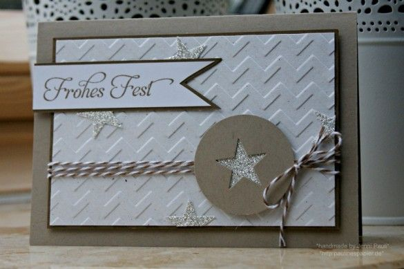 Weihnachtskarte von Stampin Up mit dem Stempelset Wunderbare Weihnachtsgrüße