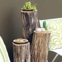 http://www.freshhomeideas.com/DIY-Projects/Outdoor-Projects/how-to-make-a-rustic-outdoor-table: Ideas, Craft, Side Tables, Tree Stumps, Wood, Log Table, Outdoor Tables, Diy