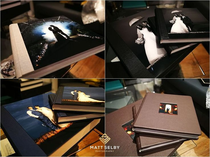 Took delivery of these client albums today. In love with the acrylic & duotone textile :) #Mattselbyphotography