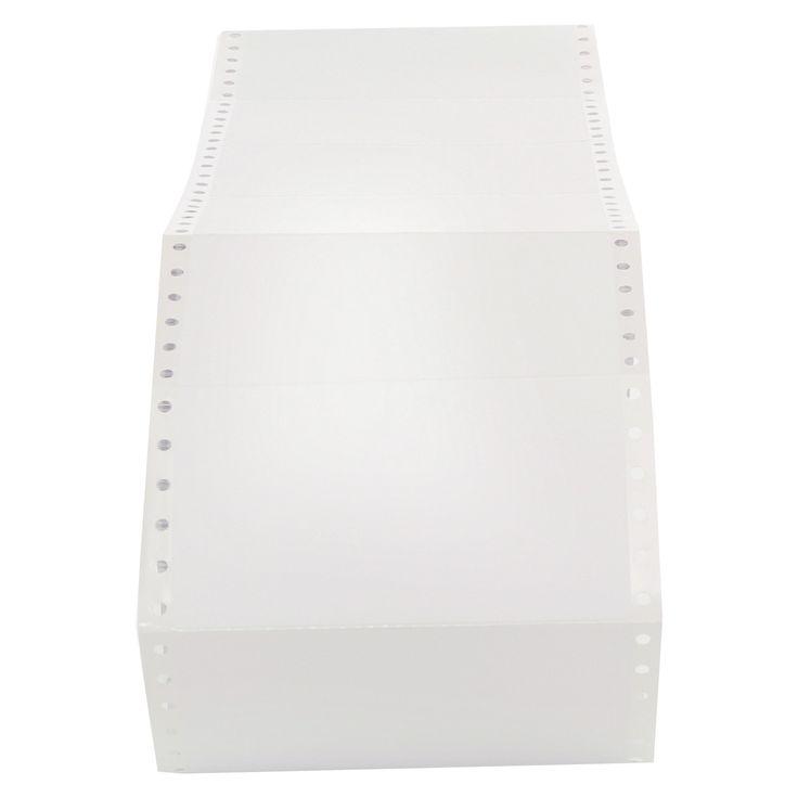 Universal Dot Matrix Printer Labels, 1 Across, 2-15/16 x 5, White, 3000/Box