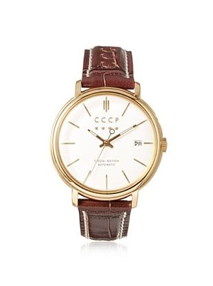 74% OFF CCCP Men's 7019-05 Heritage Red/White/Gold Stainless Steel Watch