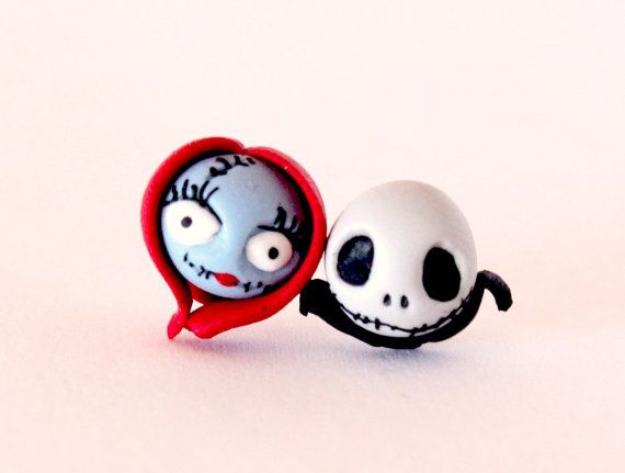 Hey, I found this really awesome Etsy listing at https://www.etsy.com/listing/181087283/jack-and-sally-stud-earrings-inspired-by