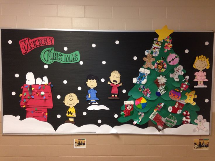 Charlie Brown Christmas bulletin board