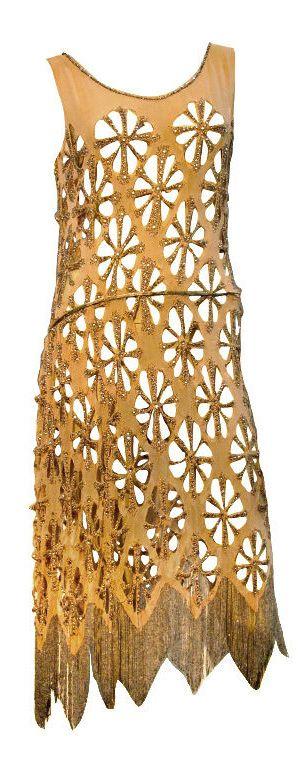 Extraordinary 20s French Cut-Work Beaded Tea Dress, France ~ http://fashion.1stdibs.com/avl_item_detail.php?id=57010