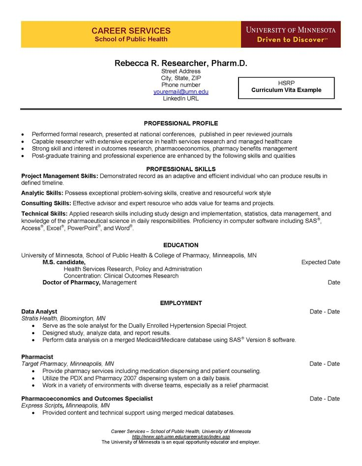 8 best Curriculum Vita Guide images on Pinterest Curriculum, Cv - research pharmacist sample resume