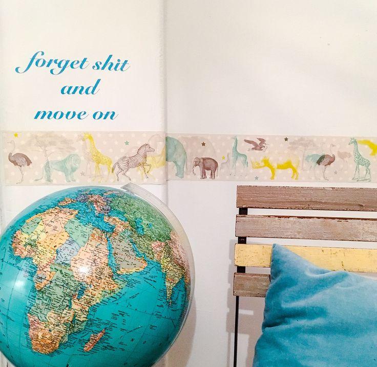 New  Bord re selbstklebend Tapete Afrika Kinderzimmer