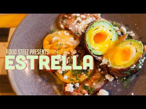 Estrella's 'The Rolling Stone' Dish - YouTube // Avocado, eggs, bacon, tomatoes!! How could this be any more PERFECT for me! #favorite