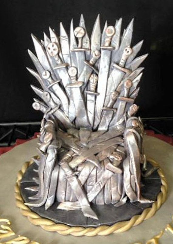 Game of Thrones Chair Cake Topper by fondantfeatures on Etsy