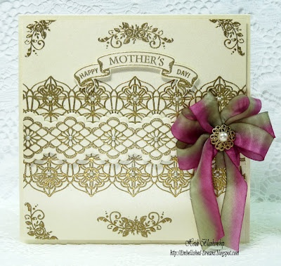 Mother's Day Card designed by Heidi Blankenship using Classic Lace Edges One & Two and Vintage Rose Medallions.