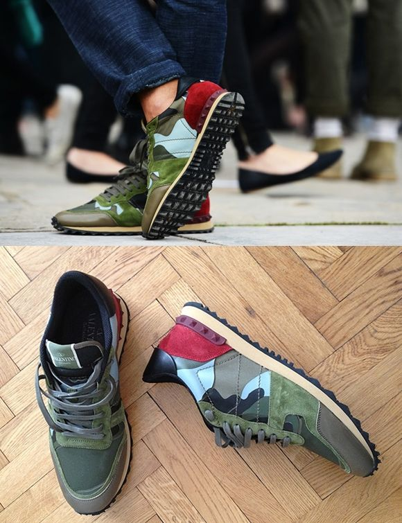 valentino sneakers 05/26/2015- i love valentino simple concept of the sneaker how he always includes the studs.