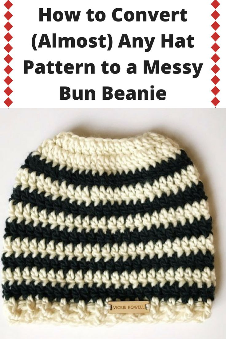How to Convert (Almost) Any Hat Pattern to a Messy Bun Beanie