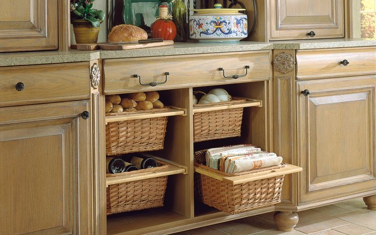 Wicker Basket Drawers For Kitchen