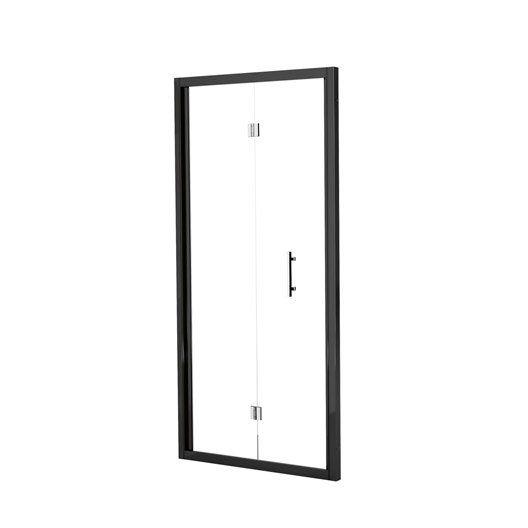 Porte de douche pliante 96/102 cm profilé noir, Elyt